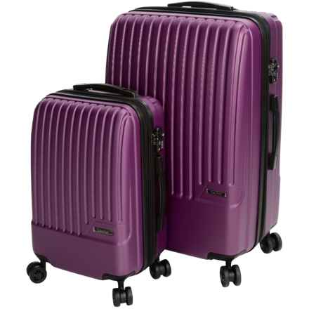 Calpak Davis Expandable Carry-On and Spinner Suitcase Set - 2-Piece in Purple - Closeouts