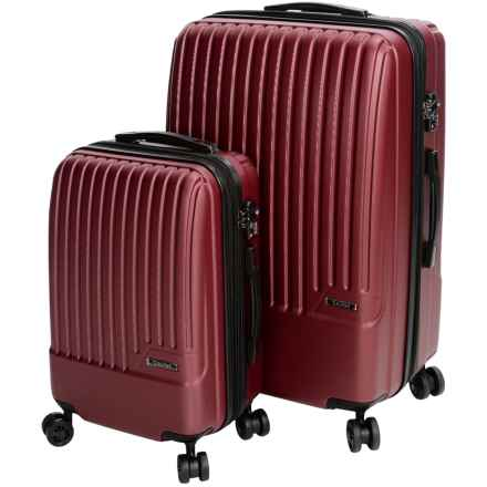 Calpak Davis Expandable Carry-On and Spinner Suitcase Set - 2-Piece in Red - Closeouts