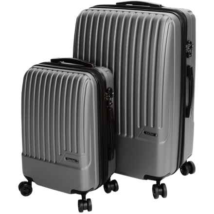 Calpak Davis Expandable Carry-On and Spinner Suitcase Set - 2-Piece in Silver - Closeouts