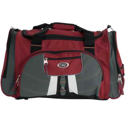 "Calpak Hollywood Multi-Pocket Duffel Bag - 22"" in Deep Red - Closeouts"