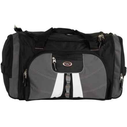 "Calpak Hollywood Multi-Pocket Duffel Bag - 27"" in Black/Charcoal - Closeouts"