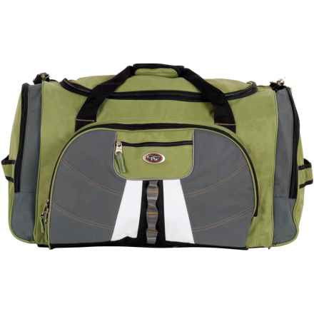 "Calpak Hollywood Multi-Pocket Duffel Bag - 27"" in Olive - Closeouts"