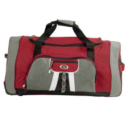 "Calpak Hollywood Rolling Duffel Bag - 31"" in Deep Red - Closeouts"