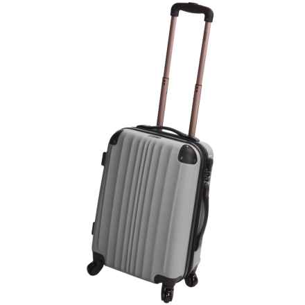 "Calpak Lukas II Expandable Spinner Carry-On Suitcase - 20"" in Silver - Closeouts"