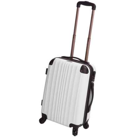 "Calpak Lukas II Expandable Spinner Carry-On Suitcase - 20"" in White - Closeouts"