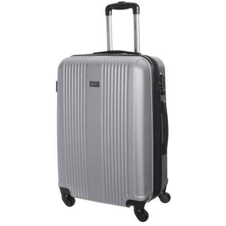 """CalPak Torrino II Expandable Carry-On Spinner Suitcase - Hardside, 20"""" in Silver - Closeouts"""