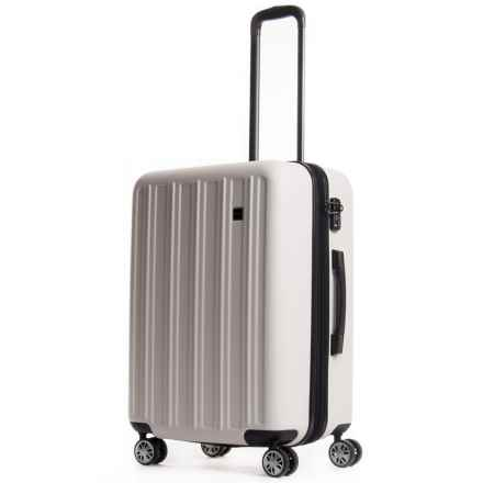 """Calpak Wandr Collection Hardside Expandable Spinner Suitcase - 24"""" in Ivory - Overstock"""