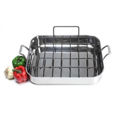 "Calphalon Accucore 16"" Roaster with Rack in See Photo - Closeouts"