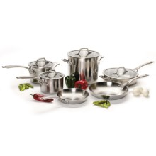 Calphalon Accucore Cookware Set - 10-Piece, Stainless Steel in See Photo - Closeouts