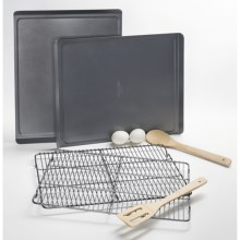 Calphalon Nonstick Cookie Sheets and Cooling Racks - 4-pc. Set in See Photo - Closeouts