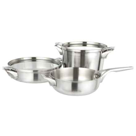 Premier Space Saving Supper Club Set - 5-Piece, Stainless Steel in Silver - Closeouts