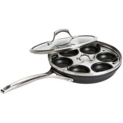 "Calphalon Unison Nonstick Covered Omelette Pan with Egg Poacher Insert - 10"" in See Photo"