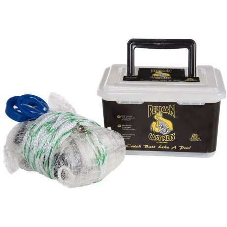Calusa 4' Pelican Cast Net in White