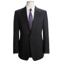 Calvin Klein Beaded Stripe Suit - Wool Blend, Slim Fit (For Men) in Black - Closeouts