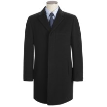 Calvin Klein Cody Topcoat - Wool-Cashmere (For Men) in Black - Closeouts