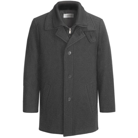 Calvin Klein Coleman Top Coat (For Men) in Charcoal