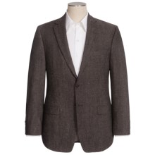 Calvin Klein Donegal Tweed Sport Coat - Elbow Patches, Wool Blend (For Men) in Black/Brown - Closeouts