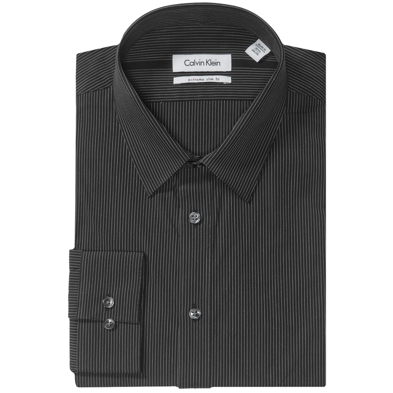 Calvin klein extreme slim fit dress shirt point collar for Calvin klein x fit dress shirt