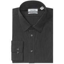 Calvin Klein Extreme Slim Fit Dress Shirt - Point Collar, Long Sleeve (For Men) in Dusk - Closeouts
