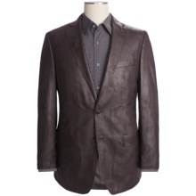 Calvin Klein Faux-Leather Sport Coat (For Men) in Brown - Closeouts