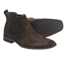 Calvin Klein Garrison Pull-On Boots (For Men) in Dark Brown Suede - Closeouts