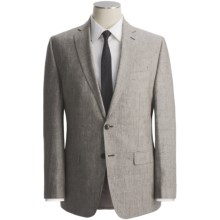 Calvin Klein Glen Plaid Suit - Linen, Slim Fit (For Men) in Olive - Closeouts
