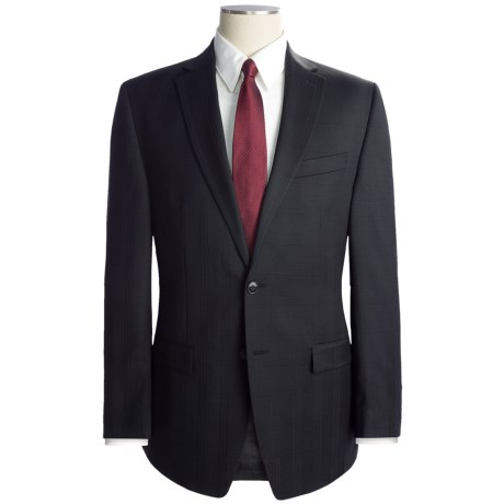 Calvin Klein Glen Plaid Suit - Wool, Slim Fit (For Men) in Black/White