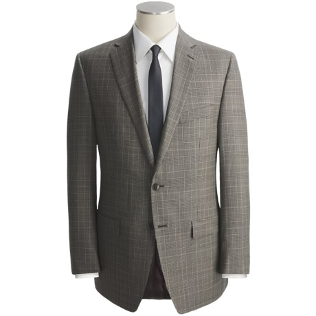 Calvin Klein Glen Plaid Suit - Wool, Slim Fit (For Men) in Navy