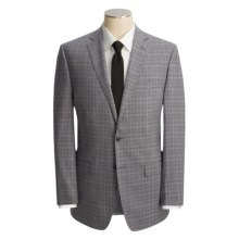 Calvin Klein Glen Plaid Suit - Wool, Slim Fit (For Men) in Black - Closeouts