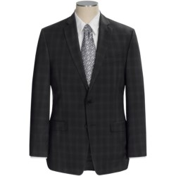 Calvin Klein Glen Plaid Suit - Wool, Slim Fit (For Men) in Black