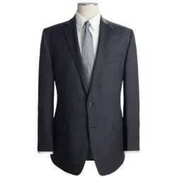 Calvin Klein Glen Plaid Suit - Wool, Slim Fit (For Men) in Black/Olive