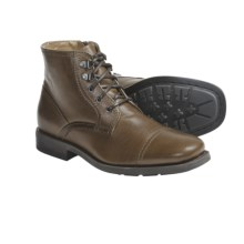 Calvin Klein Lawson Boots - Waxy Leather (For Men) in Medium Brown - Closeouts