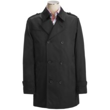 Calvin Klein Lotus Pea Coat (For Men) in Black - Closeouts