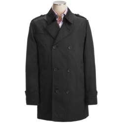 Calvin Klein Lotus Pea Coat (For Men) in Black