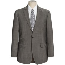 Calvin Klein Mini Graph Suit - Wool, Slim Fit (For Men) in Taupe - Closeouts