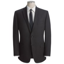 Calvin Klein Mini-Stripe Suit - Slim Fit, Wool Blend (For Men) in Black - Closeouts