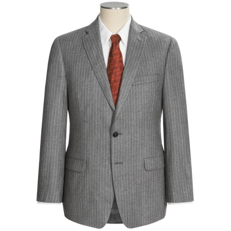 Calvin Klein Mini-Stripe Suit - Wool (For Men) in Grey