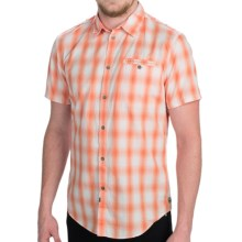 Calvin Klein Modern Fit Shirt - Button Front, Short Sleeve (For Men) in Sunset - Closeouts