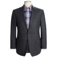Calvin Klein Multi-Check Sport Coat - Slim Fit, Wool (For Men) in Charcoal - Closeouts