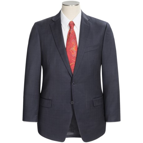 Calvin Klein Multi-Check Sport Coat - Slim Fit, Wool (For Men) in Charcoal