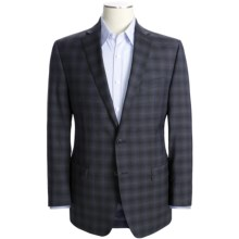 Calvin Klein Multi-Check Sport Coat - Slim Fit, Wool (For Men) in Grey/Navy Windowpane - Closeouts