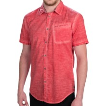 Calvin Klein Pigment-Dyed Shirt - Slim Fit, Short Sleeve (For Men) in Faded Vermillion - Closeouts