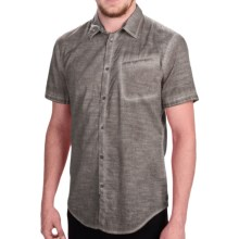 Calvin Klein Pigment-Dyed Shirt - Slim Fit, Short Sleeve (For Men) in Platnium - Closeouts