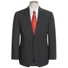 Calvin Klein Pinstripe Suit - Slim Fit (For Men) in Black - Closeouts