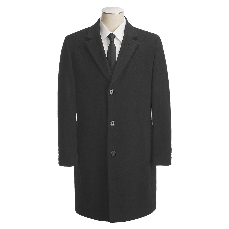calvin klein plaza top coat wool cashmere for men in black. Black Bedroom Furniture Sets. Home Design Ideas