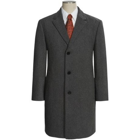 Calvin Klein Plaza Top Coat - Wool-Cashmere (For Men) in Charcoal Twill