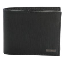 Calvin Klein Saffiano Leather Passcase Wallet (For Men) in Black - Closeouts