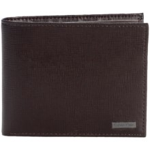 Calvin Klein Saffiano Leather Passcase Wallet (For Men) in Brown - Closeouts