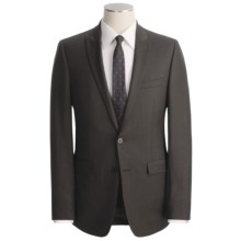 Calvin Klein Sharkskin Suit - Slim Fit, Wool (For Men) in Dark Brown - Closeouts