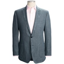 Calvin Klein Slub Linen Sport Coat (For Men) in Denim - Closeouts